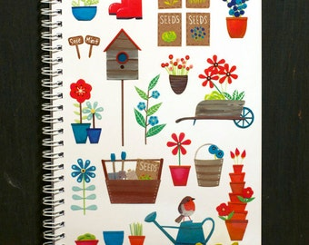 In The Garden - A5 Notebook