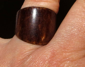 Antique Horn Band Ring Size 8