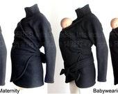 Maternity. Coat. Babywearing Coat. Baby Wearing Coat. Sling Coat. Carry Coat. Ergo. Wrap. Sling Coat Jacket.