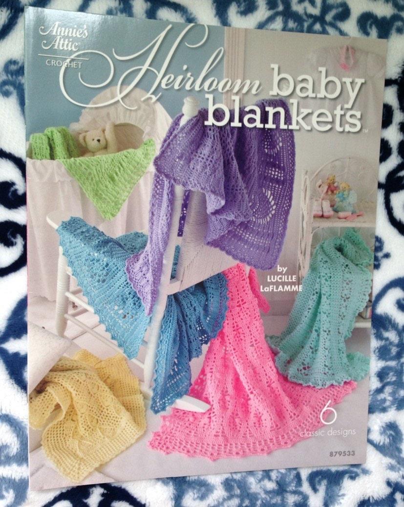 Annie S Attic Crochet Heirloom Baby Blankets Book