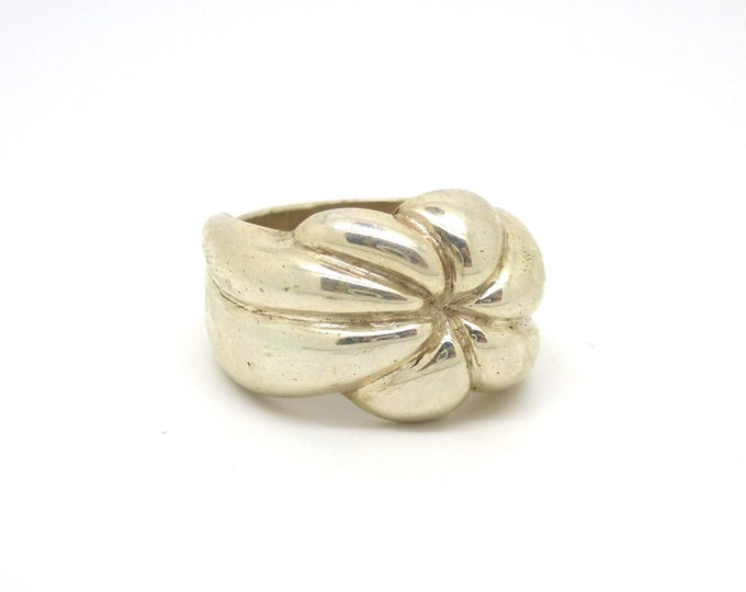 Sterling Silver Flower Ring on Sale 30% off was 70
