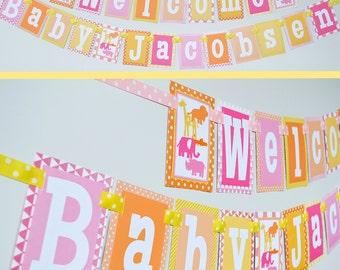 Girly Jungle Theme Baby Shower Decorations Fully Assembled