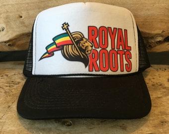Rasta Flag Lion Royal Roots Trucker Hat