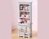Pink Themed Shelf Unit Hutch for Dollhouse - 12th Scale Miniature Food (Pink Collection 2016)
