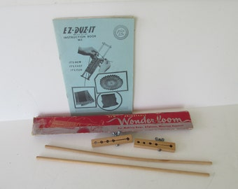 Wonder Loom, EZ-DUZ-IT, 1946, Crochet Frame, instructions    M-3