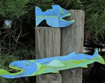 Wooden Fish Wall Art wooden fish wall art | etsy