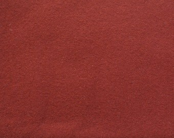 Paprika Brown Hand Felted Wool Fabric - Hand Dyed - - 100% Wool