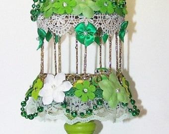 St Patricks Day, Green, Birdcage, Home Decor, Wedding Decor, Irish, Cake Topper, Ireland, Lucky Charm, Four Leaf Clover, Coin Gold, Flowers