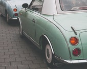 Vintage Car Photography, 8x10, Mint Green Figaro, Car Print, Car Photography, Travel Photography, Mint Green, Dreamy Photography, For Him