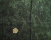 """Dark Green Mottled 100% Cotton Fabric Remnant 12"""" X 44"""""""
