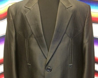 Medium 40R black western suit coat jacket