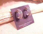 native american indian hoop earrings -  sterling silver  -   FREE SHIPPING SALE
