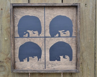 The Beatles Hard Days Night Wood Sign MADE TO ORDER