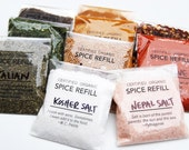 LARGE SPICE REFILLS: Organic Spices Shipped in Compostable Cellphane Bags. For Large Jars! (4 oz Volume)