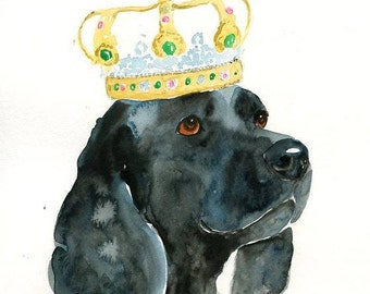 CUSTOM pet PORTRAIT+ACCESSORIES  Original watercolor painting 8X10inch