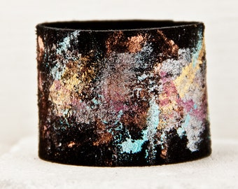 2016 Fashion Leather Cuff Jewelry Bracelet Wristband Wrist Cuffs Black Leather - Valentine's Day - Hand Painted Trends