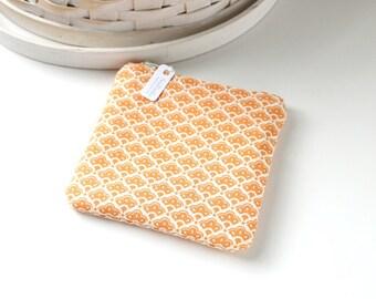 Orange Floral Coin Purse Floral Change Purse Orange Gift Card Holder