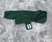 Fleece jacket, 24 inch, dark green.