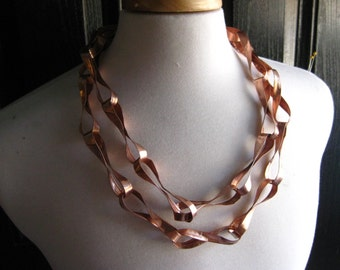 Cranach style chain, copper large twisted link chain