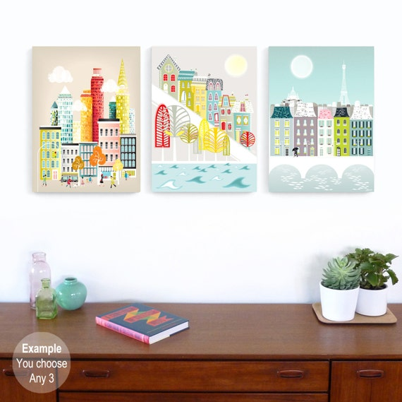 Home Decor Stores Chicago: Large Prints Canvas Wall Art Home Decor Choose ANY 3 By