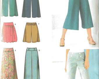 Simplicity 4237 Sewing Pattern, 16-18-20-22-24, Knit Skirt and Pants