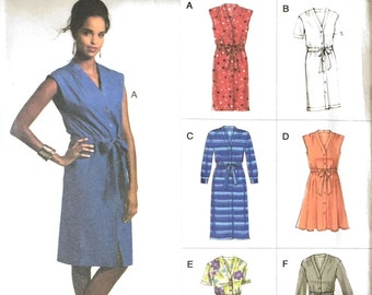 Vogue V8810 Sewing Pattern, Ladies Dresses, 16-18-20-22-24