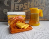 Vintage Fisher Price Waffle Butter Syrup Pitcher