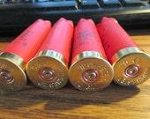 200 pcs Winchester Super X red shotgun shell hulls stamped brass ends bulk lot empty fired empties shot gun shells casings