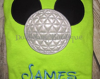 Epcot Mickey shirt with name