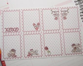 8 Planner Stickers Full Shaded Box Vertical Horizontal Monkey Valentine Planner Stickers PS372