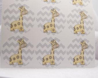 Sticker Envelope Seals Giraffe Baby Announcement Favor Bag Baked Goods Thank You Note Sticker SES310