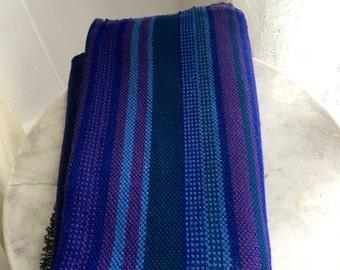 Vintage Scandinavian Folk Weaving Southwest Table Runner Fabric Hand Woven