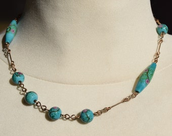 1920's Murano, Lampwork Bead Necklace.