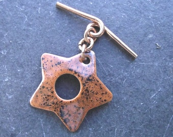 Enamelled Star Toggle Clasp