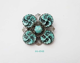 FREE SHIP Gorgeous Green Brooch (4-4948)
