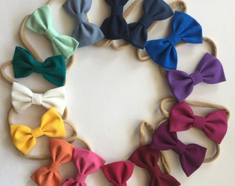 The Mini Classic | solid fall colors | baby girl, toddler, girl headband or clip