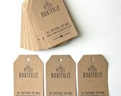 """100 Printed Tags - custom design included - 2"""" x  3.5"""" - Choose your paper"""