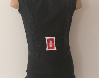 Black Widow Inspired Toddlers Girls Biketard Unitard.  Gymnastics Black Widow Costume. Black Widow Performance Costume. SIZES 2T - Girls 12