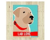 Labrador Retriever Magnet, Labrador Gifts, Dog Lover Gift, Labrador Art, Small Gift Magnet, Fridge Magnet, Refrigerator Magnet, Yellow Lab