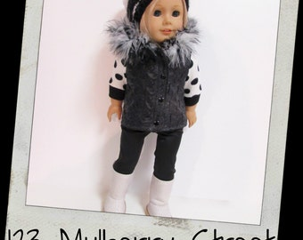 "18"" Doll clothes--  Quilted Vest/Hat fit 18"" dolls like American Girl, Maplelea"