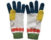 Knitted Lambswool Bracelet Gloves