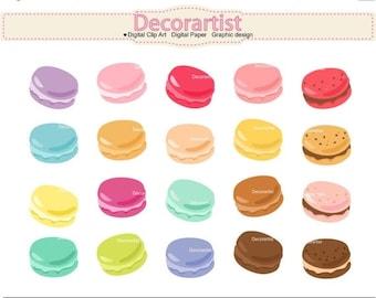 ON SALE Macaron clipart, macarons clipart, french macaron clipart, tea party clipart, INSTANT Download
