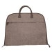 Monogrammed Brown Brushed Canvas Garment Bag; Great Graduation, Groomsmen, or Father's Day Gift