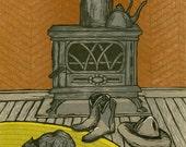 Brandi Carlile Woodcut Poster