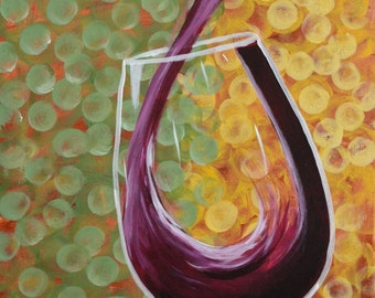 BUBBLY PINOT-16 x 20 Acrylic on Canvas