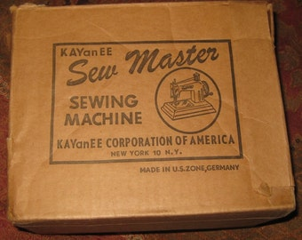Vintage KAYanEE Sew Master Sewing Machine Box Only