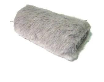Lt. Gray Faux Fur Handmuff, Muff, Handwarmer