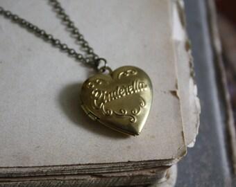ON SALE Cinderella Locket - Fairy Tale Locket Necklace