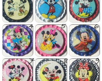 TOP Only**Mickey/Minnie Mouse Inspired Interchangeable Badge Reel Tops  *PICK ONE*