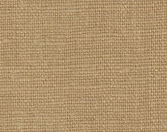 Solid color linen drapes, rattan, dark beige linen curtain panels, rod pocket linen curtains